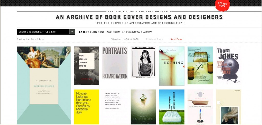 Book Cover Archive : The book cover archive « visual communication